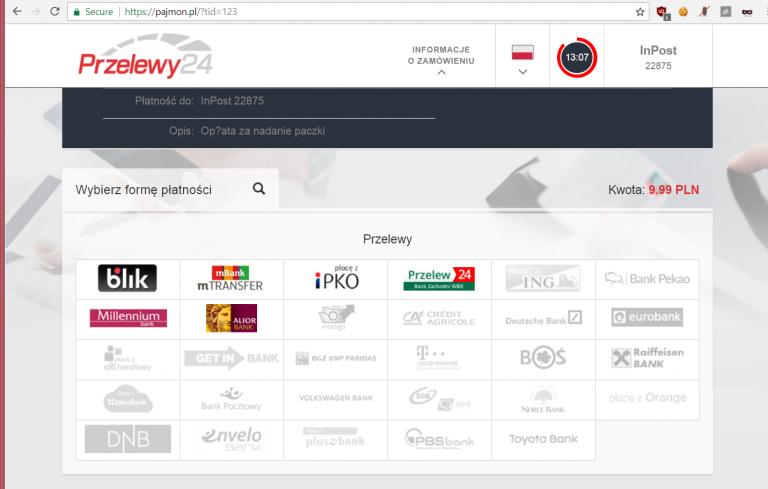 Uwaga! Kampania phishingowa Przelewy24