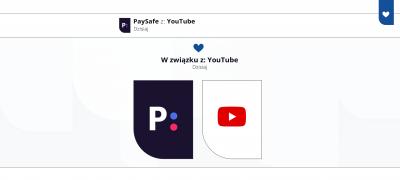 PaySafe w związku z: YouTube