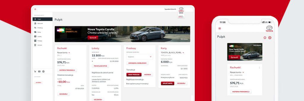 aplikacja bankowa Toyota Bank